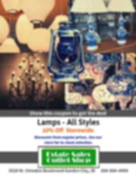10% off Lamps