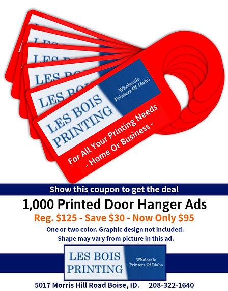 1000 Door Hangers - $95