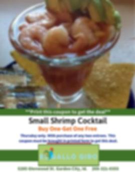 Small Shrimp Cocktail