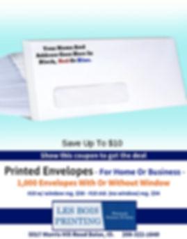 1000 Printed Envelopes