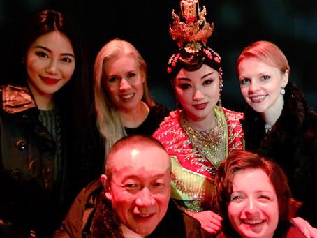 Magdalena Baczewska with Tan Dun in Shanghai, China