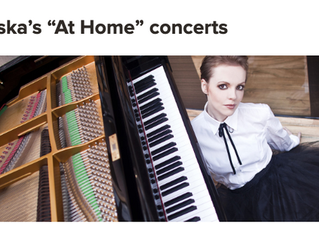 "Baczewska's ""At Home"" concerts - Newsletter of Polish Music Center at USC Thornton"
