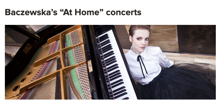 """Baczewska's """"At Home"""" concerts featured in the newsletter of Polish Music Center at USC Thornton"""