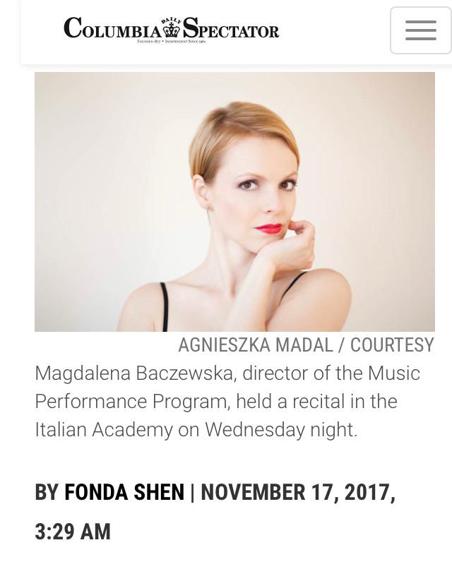 Magdalena Baczewska, Columbia University