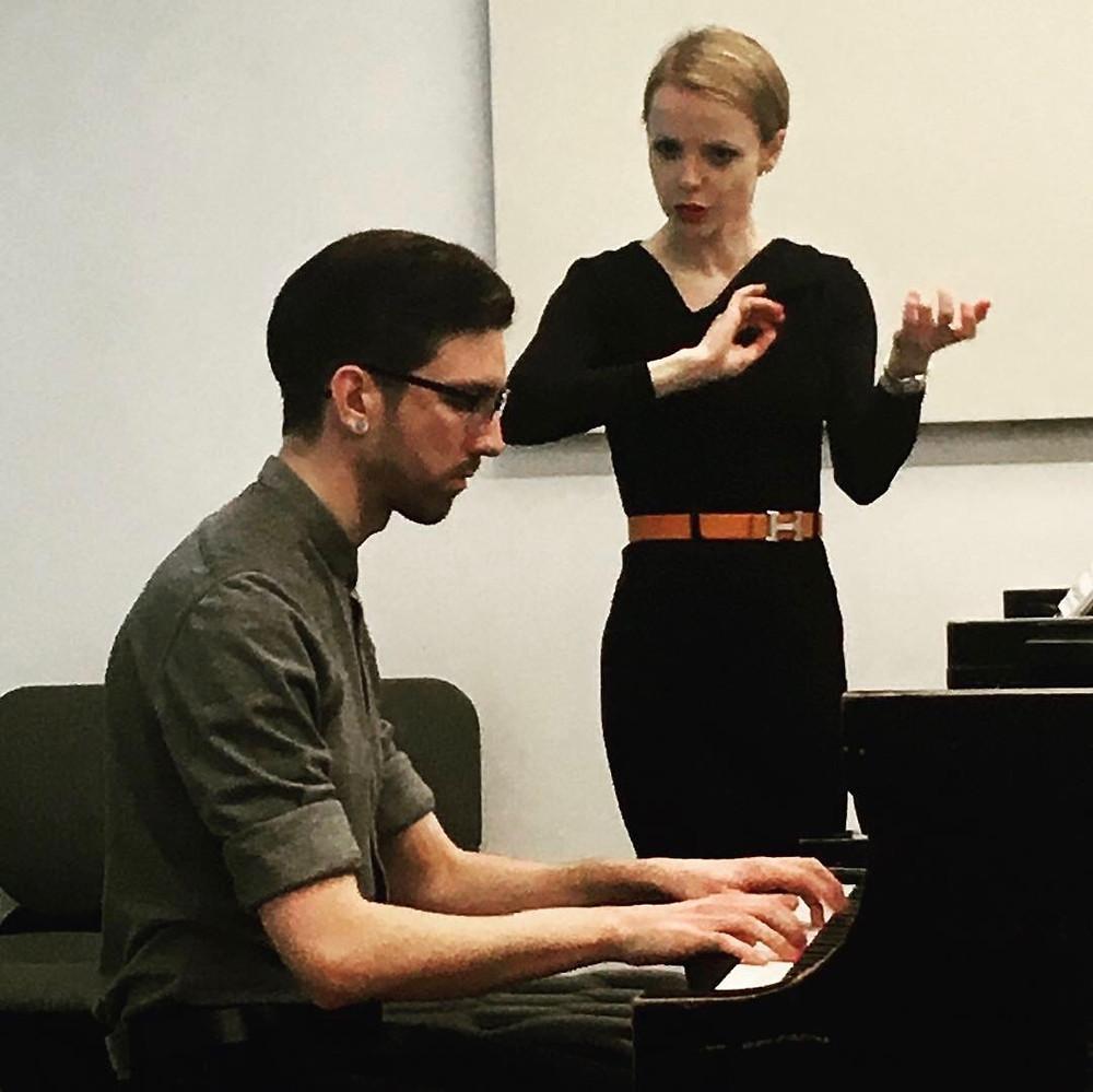 Magdalena Baczewska Conducts a Piano Master Class at NYU