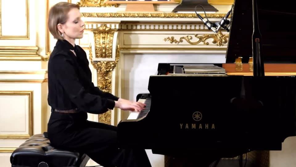Magdalena Baczewska performs at the Chopin Birthday Gala in NYC