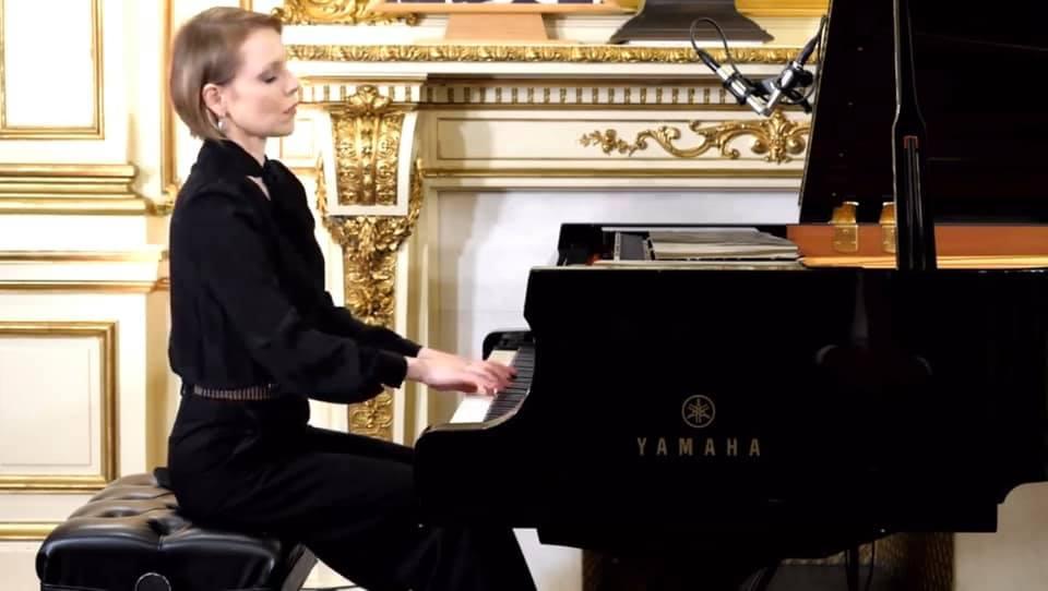 Magdalena Baczewska performs at the Chopin Birthday Gala in NYC