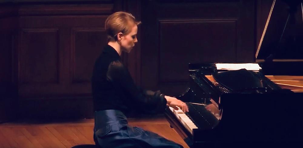 Magdalena Baczewska performs at Columbia University's Italian Acadey