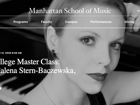 Manhattan School of Music Masterclass Link