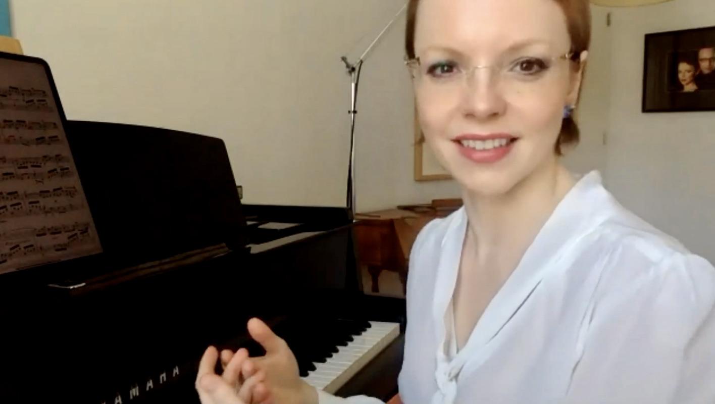 Magdalena Baczewska virtual masterclass at the Intercollegiate Chamber Music Festival