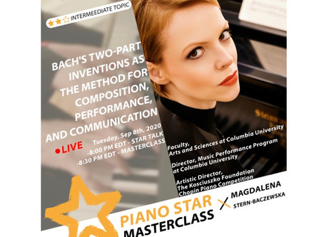 Masterclass on Tuesday, September 29th
