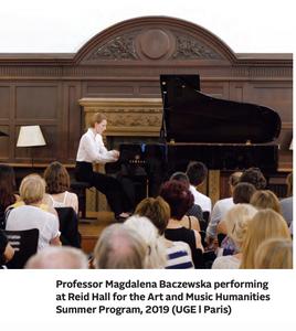 Magdalena Baczewska's Paris recital at Reid Hall this Summer has been postponed. À la prochaine fois! Stay healthy and safe.