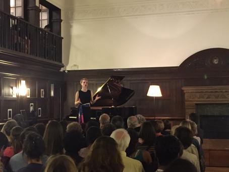 Magdalena Baczewska performs at Reid Hall, Columbia Global Center, Paris, France
