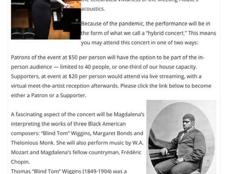 Music of Black American composers in  historic Jamesport