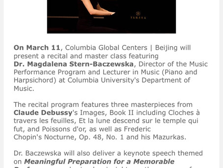 Magdalena Baczewska to Speak at the Columbia Global Center Beijing