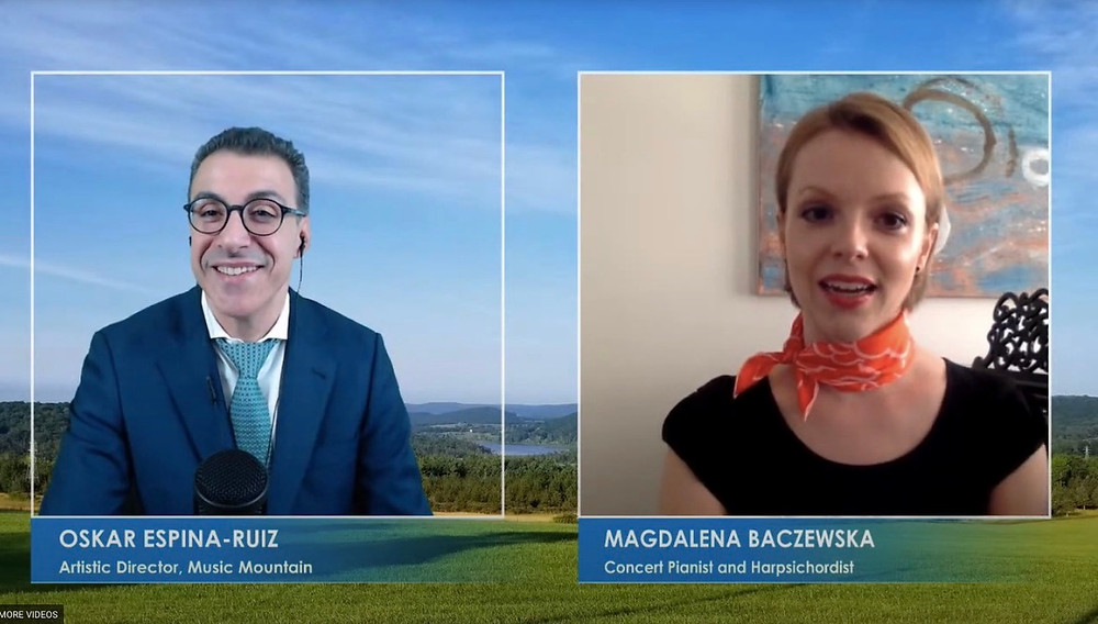 Magdalena Baczewska interviewed on Live from Music Mountain