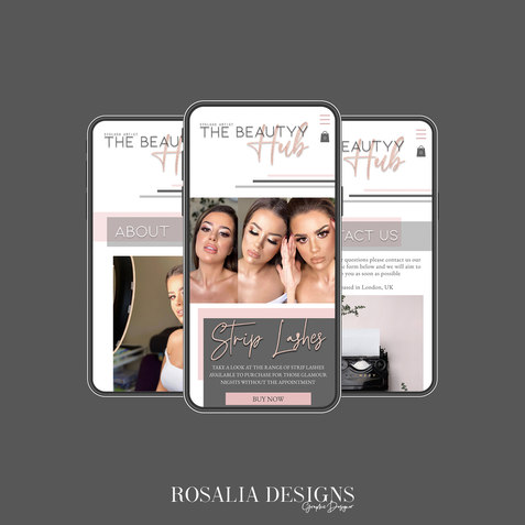 Instagram Layout (Mobile Website)beautyy