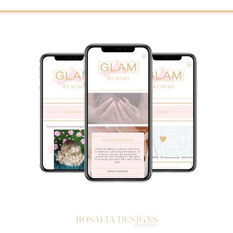 Instagram Layout (Mobile Website) Glam.j