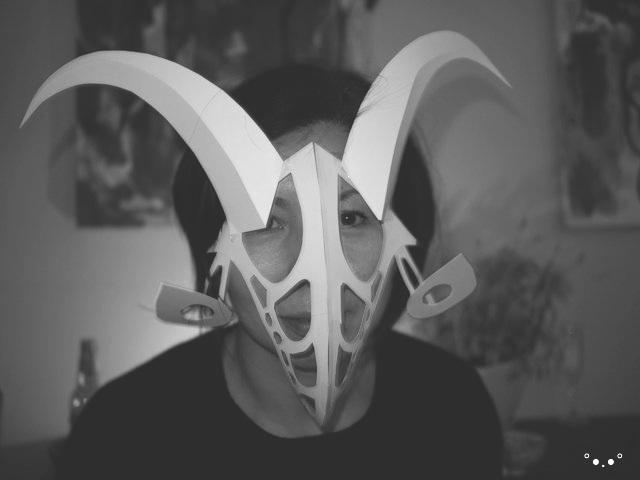 paper mask - Liz Kosack