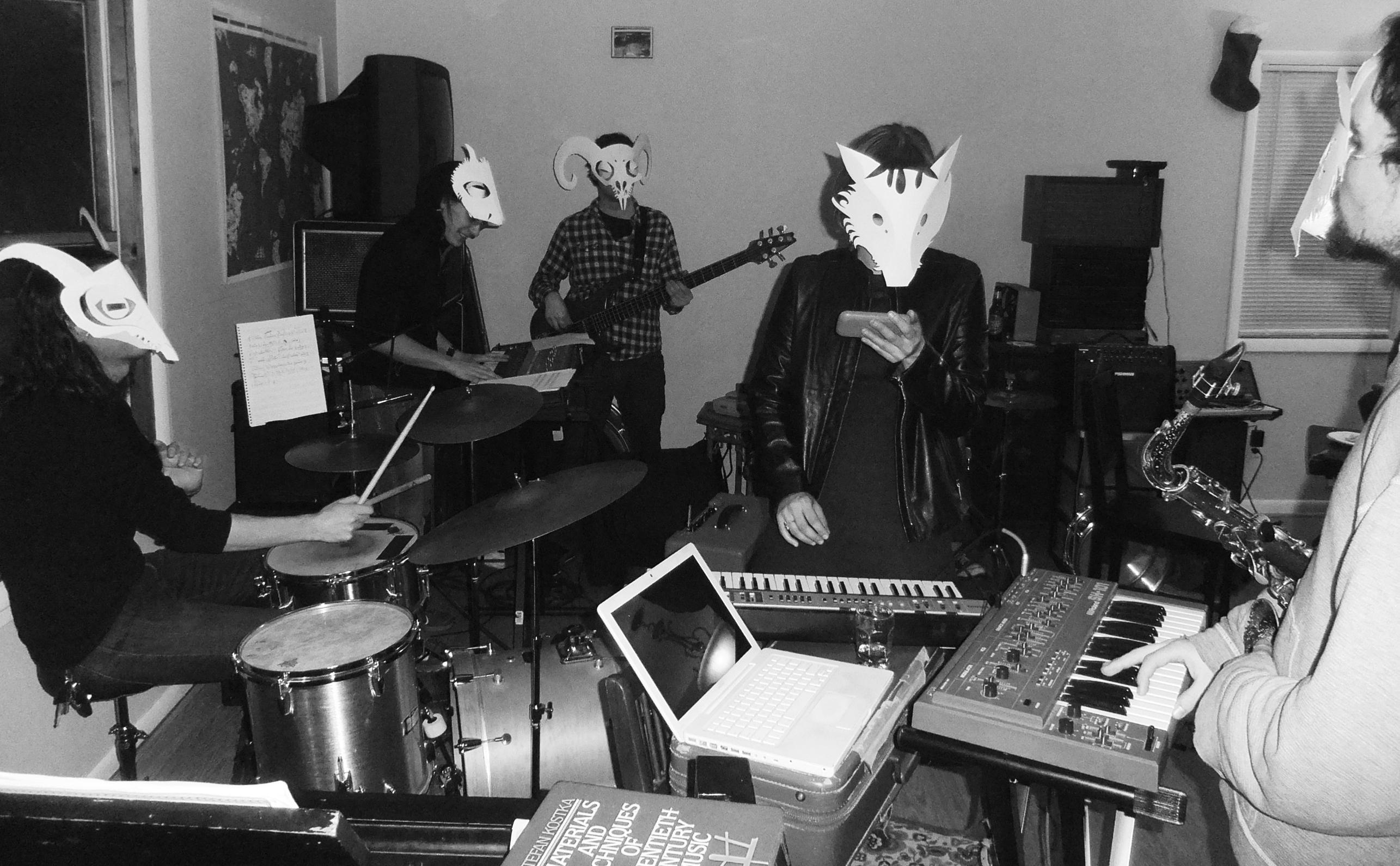 Wolfram band masks - Liz Kosack