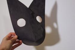black paper mask  - Liz Kosack