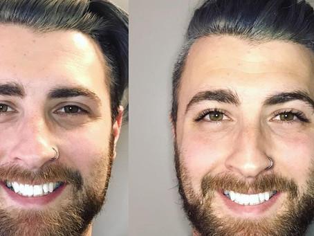 Guy's eyelash extensions