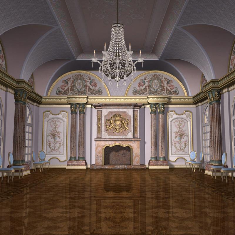Montespan Ballroom Props-Scenes-Architecture Software Themed GrayCloudDesign_00.
