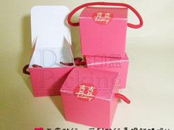Z076-禮物手提盒(桃紅)