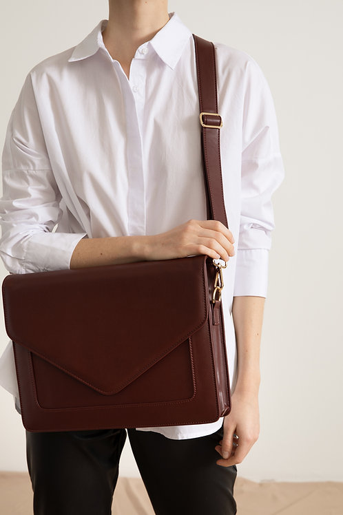 Looqatme Bag Bordo- Laptop ve Evrak Çantası