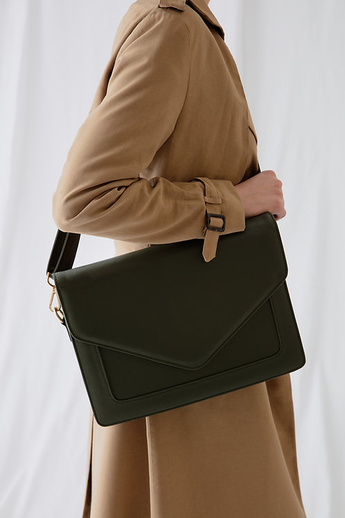 Looqatme Bag Haki - Laptop ve Evrak Çantası