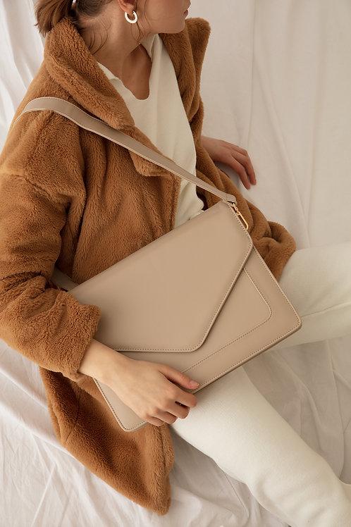 Looqatme Bag Bej- Laptop ve Evrak Çantası