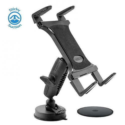Heavy-Duty Sticky Suction Windshield or Dash Tablet Mount for iPad Air, iPad 4,