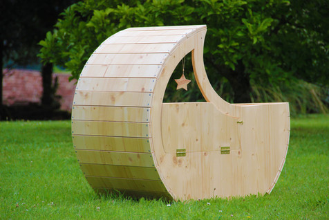 Le berceau-lune d'Esmé - Berceau en bois pour co-dodo