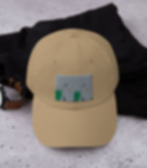Dad hat with embroidery of woman and palm on base colour Stone, by https://www.siriskogstad.com
