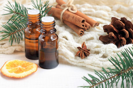 Essential oil blend. Dark glass bottles,