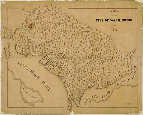 1.1 View of the city of Washington in 17