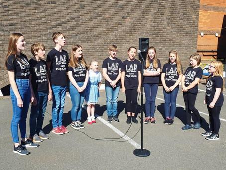 LAR Tring Pop Choir perform at Stoke Mandeville Hospital