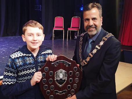 Theodore Awarded The Baker Shield