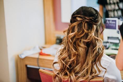 kent wedding hair
