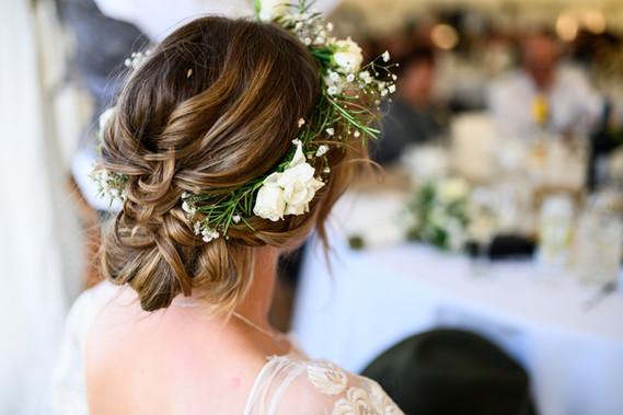 Wedding Flower Crown Hair Up
