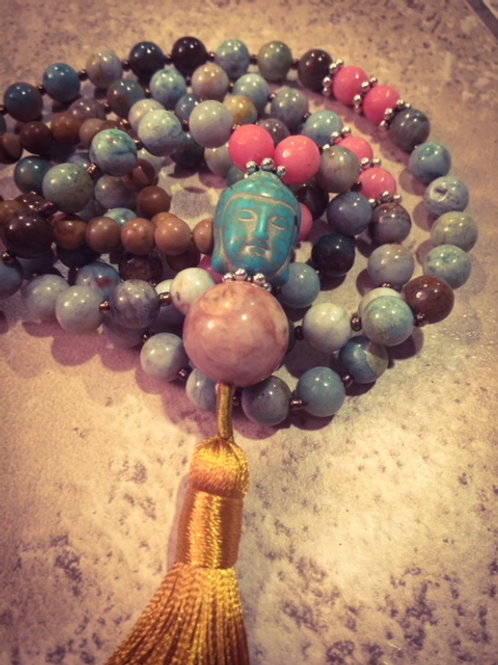 Bloodstone Yellow 108 Mala
