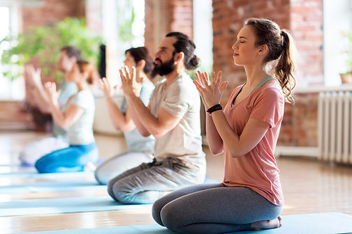 fitness, yoga and healthy lifestyle conc