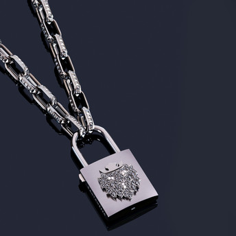 BIG PADLOCK BLACK LION