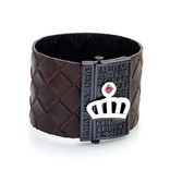 BIG LEATHER BRACELET WITH CERAMIC