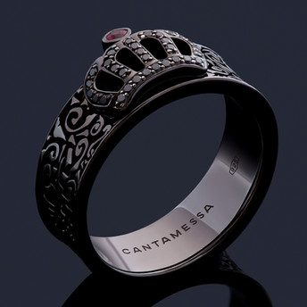 CROWN RING BLACK