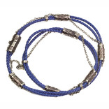 BRAIDED LEAHTER BLUE