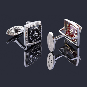 REVERSIBLE CUFFLINKS BR SQUARE