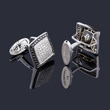 REVERSIBLE CUFFLINKS BW SQUARE