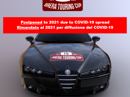 CANCELLATION of the Brera Touring Cup 2020 Edition