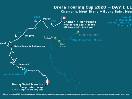 Brera Touring Cup 2020 - The Itinerary Day 1 Leg 2
